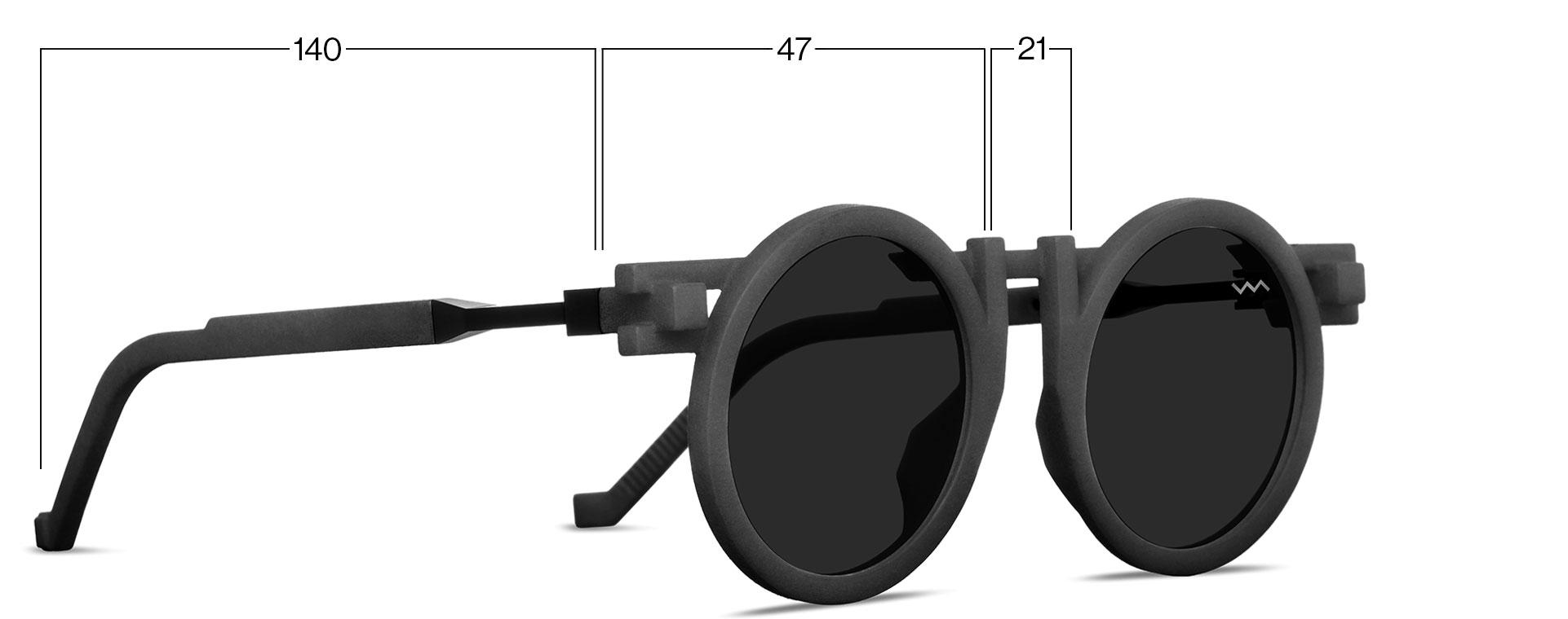 VAVA CL0013 kengo kuma black sunglasses online shop sizing